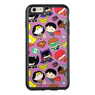 Coque OtterBox iPhone 6 Et 6s Plus Motif de ligue de justice de Chibi sur le pourpre