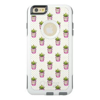 Coque OtterBox iPhone 6 Et 6s Plus Motif de point succulent de polka d'aquarelle