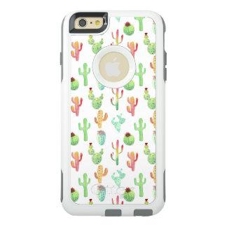 Coque OtterBox iPhone 6 Et 6s Plus Motif en pastel d'aquarelle de cactus