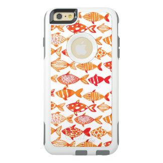 Coque OtterBox iPhone 6 Et 6s Plus Motif orange lumineux de poissons d'aquarelle