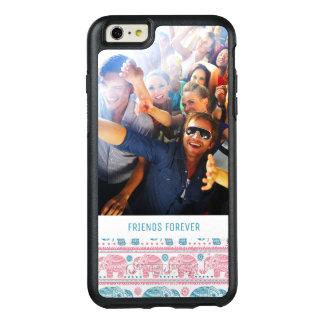 Coque OtterBox iPhone 6 Et 6s Plus Motif rose et turquoise fait sur commande de photo