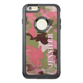 Coque OtterBox iPhone 6 Et 6s Plus Motif rose vert militaire fait sur commande de
