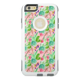 Coque OtterBox iPhone 6 Et 6s Plus Motif se développant de Succulents d'aquarelle