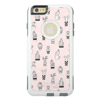 Coque OtterBox iPhone 6 Et 6s Plus Motif tiré par la main mignon de cactus
