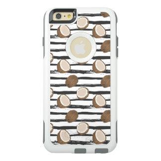 Coque OtterBox iPhone 6 Et 6s Plus Noix de coco sur le motif grunge de rayures