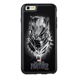 Coque OtterBox iPhone 6 Et 6s Plus Panthère noire croquis principal noir et blanc de