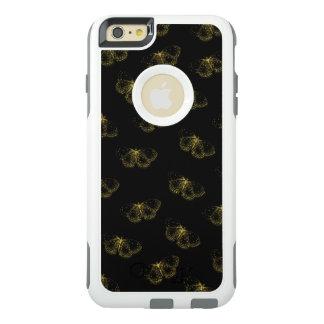 Coque OtterBox iPhone 6 Et 6s Plus Papillons métalliques d'or sur le noir