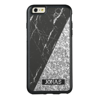 Coque OtterBox iPhone 6 Et 6s Plus Parties scintillantes de gris argenté et pierre de