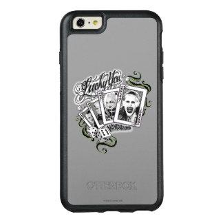 """Coque OtterBox iPhone 6 Et 6s Plus Peloton de suicide   """"chanceux vous"""" cartes de jeu"""