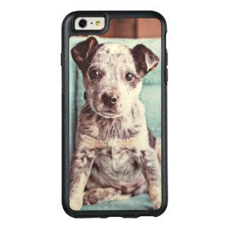 Coque OtterBox iPhone 6 Et 6s Plus Petit chiot mignon sur la chaise turquoise