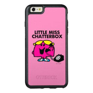 Coque OtterBox iPhone 6 Et 6s Plus Petite Mlle Chatterbox et téléphone noir