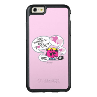 Coque OtterBox iPhone 6 Et 6s Plus Petite Mlle Chatterbox Says je t'aime