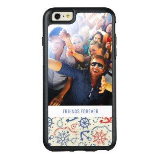 Coque OtterBox iPhone 6 Et 6s Plus Photo faite sur commande et rouge et marine des
