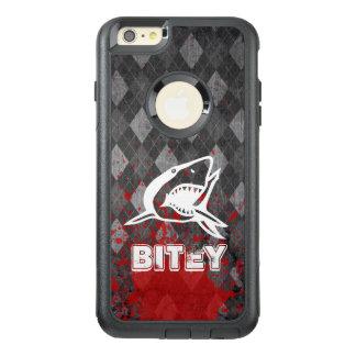 Coque OtterBox iPhone 6 Et 6s Plus Pictogramme de requin sur le Jacquard noir sale