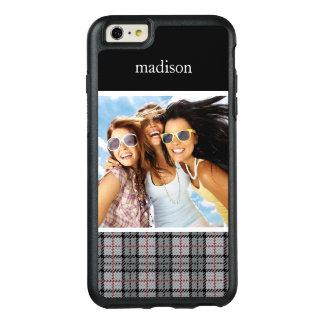 Coque OtterBox iPhone 6 Et 6s Plus Plaid fait sur commande de photo et de pixel de