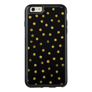 Coque OtterBox iPhone 6 Et 6s Plus Points élégants de confettis de noir et de feuille