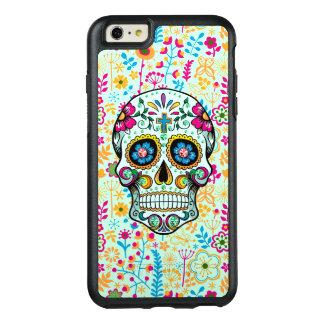 Coque OtterBox iPhone 6 Et 6s Plus Rétro crâne floral de sucre avec l'arrière - plan