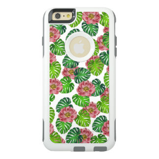 Coque OtterBox iPhone 6 Et 6s Plus Roses et motif de feuille de Monstera
