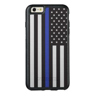Coque OtterBox iPhone 6 Et 6s Plus Soutenez l'Américain mince de Blue Line de police