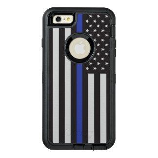 Coque OtterBox iPhone 6 Et 6s Plus Soutenez le drapeau américain mince de Blue Line