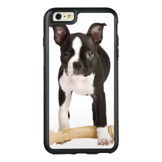 Coque OtterBox iPhone 6 Et 6s Plus Terrier de Boston gardant l'os twisty