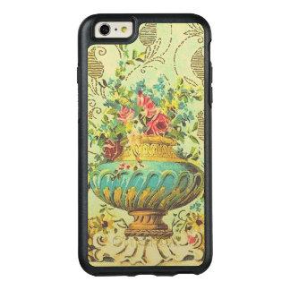 Coque OtterBox iPhone 6 Et 6s Plus Vase de fantaisie vintage avec les fleurs roses