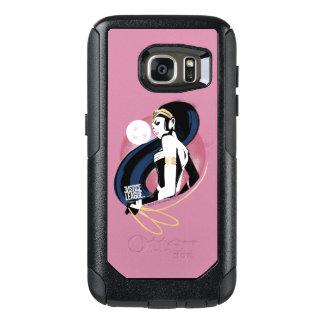 Coque OtterBox Samsung Galaxy S7 Art de bruit de profil de femme de merveille de la