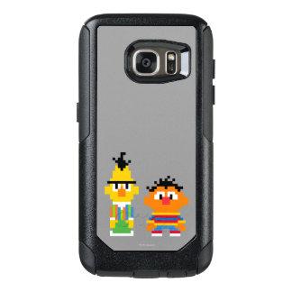 Coque OtterBox Samsung Galaxy S7 Art de pixel de Bert et d'Ernie
