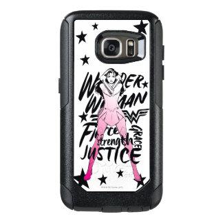 Coque OtterBox Samsung Galaxy S7 Art de typographie de brosse de femme de merveille