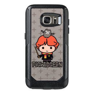 Coque OtterBox Samsung Galaxy S7 Bande dessinée Ron Weasley et Pigwidgeon