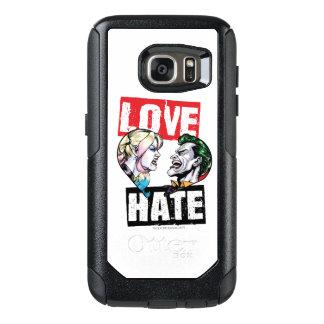 Coque OtterBox Samsung Galaxy S7 Batman | Harley Quinn et amour de joker/haine