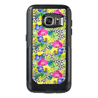 Coque OtterBox Samsung Galaxy S7 Bégonia et palmettes d'orchidée