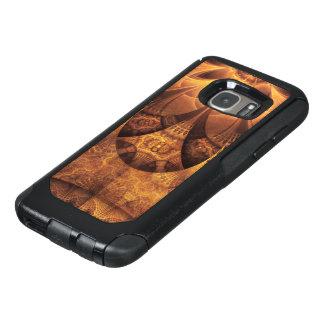 Coque OtterBox Samsung Galaxy S7 Belle ruche de fractale de nid d'abeilles d'or et