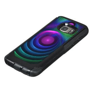 Coque OtterBox Samsung Galaxy S7 Belles fractales de marbre d'arc-en-ciel dans