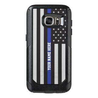 Coque OtterBox Samsung Galaxy S7 Blue Line mince - coutume personnalisée de drapeau