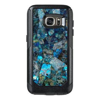 Coque OtterBox Samsung Galaxy S7 Caisse abstraite Artsy de la galaxie S7 de gemmes