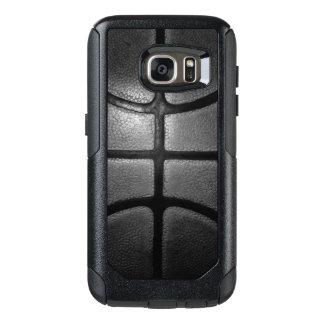 Coque OtterBox Samsung Galaxy S7 Caisses grises de Samsung de style de basket-ball