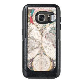 Coque OtterBox Samsung Galaxy S7 Carte antique du monde de Double-Hémisphère