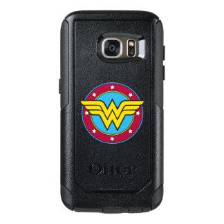 Coque OtterBox Samsung Galaxy S7 Cercle de la femme de merveille | et logo