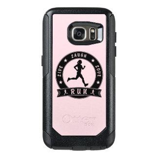 Coque OtterBox Samsung Galaxy S7 Cercle femelle COURU par amour vivant de rire