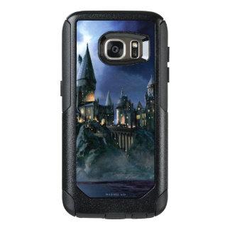 Coque OtterBox Samsung Galaxy S7 Château | Hogwarts éclairé par la lune de Harry