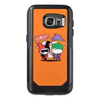 Coque OtterBox Samsung Galaxy S7 Chibi Harley Quinn et coeurs de joker de Chibi