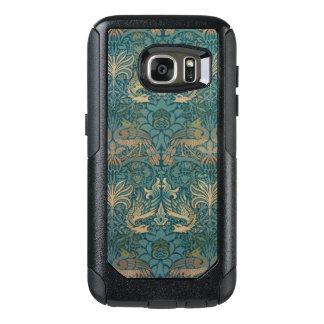 Coque OtterBox Samsung Galaxy S7 Conception de paon de William Morris et de textile