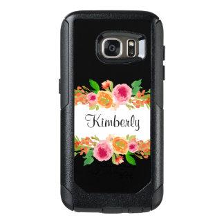 Coque OtterBox Samsung Galaxy S7 Conception florale de monogramme