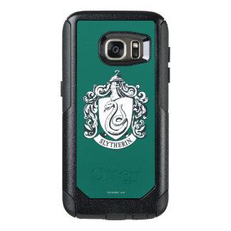 Coque OtterBox Samsung Galaxy S7 Crête de Harry Potter | Slytherin - noire et