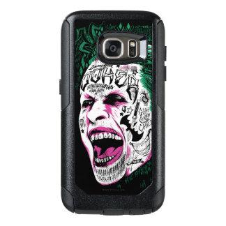 Coque OtterBox Samsung Galaxy S7 Croquis riant de tête de joker du peloton | de