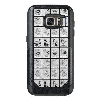 Coque OtterBox Samsung Galaxy S7 Diagramme LOONEY d'émotion de caractère de TUNES™