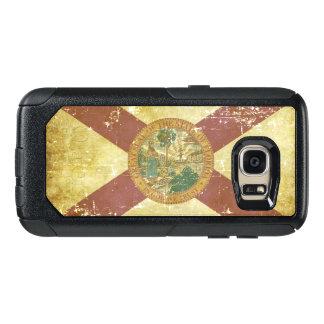 Coque OtterBox Samsung Galaxy S7 Drapeau patriotique de papier usé d'état de la