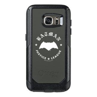 Coque OtterBox Samsung Galaxy S7 Emblème de batte de la ligue de justice rétro |