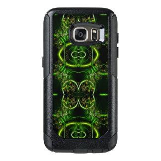 Coque OtterBox Samsung Galaxy S7 En filigrane floral abstrait enlacé par vert